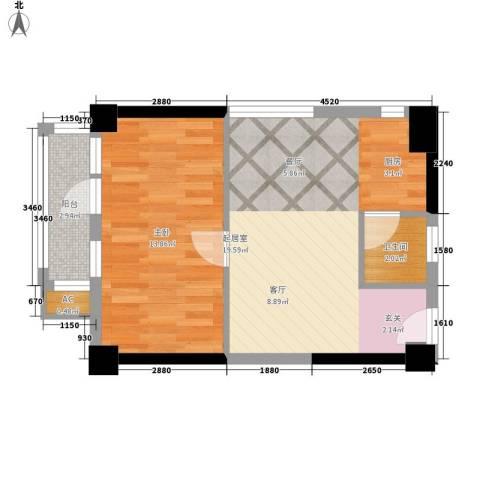 佳润新城1室0厅1卫0厨45.00㎡户型图