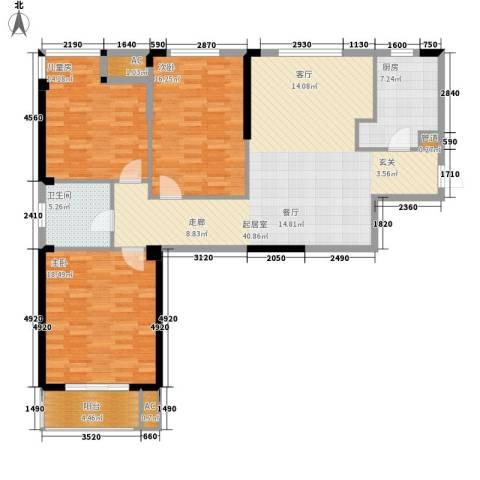 新澳蓝草坪3室0厅1卫1厨115.00㎡户型图