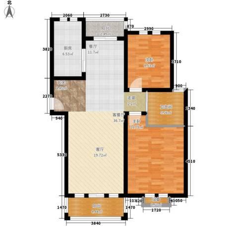 西点公园里2室1厅1卫1厨118.00㎡户型图