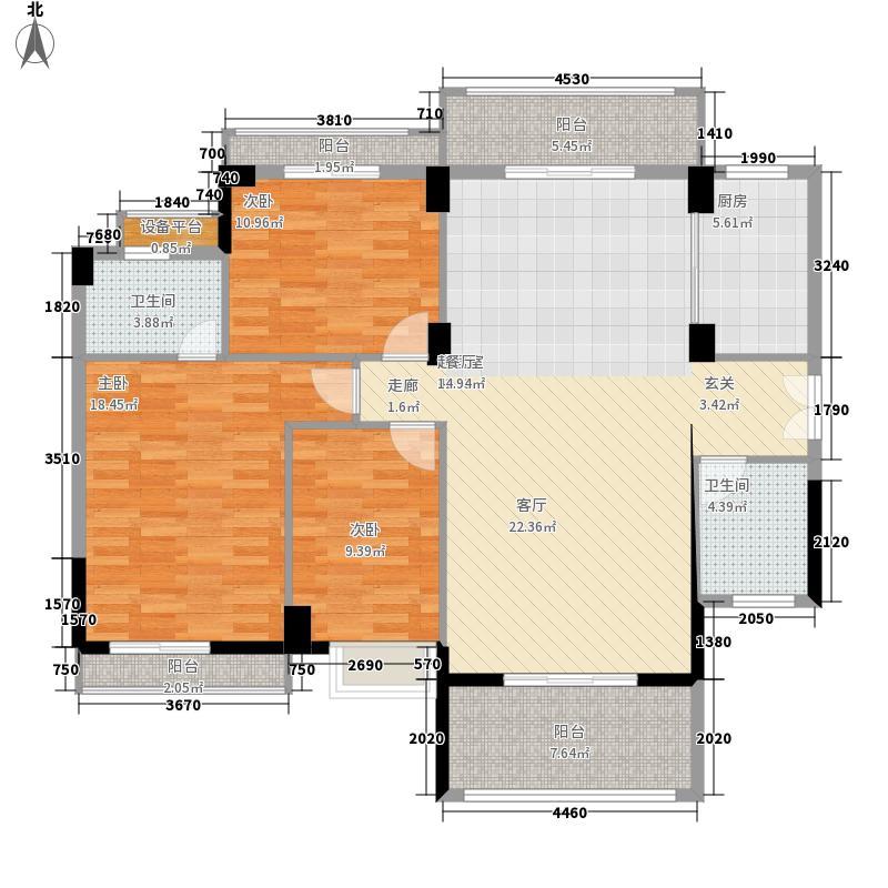 长沙玫瑰园128.00㎡面积12800m户型