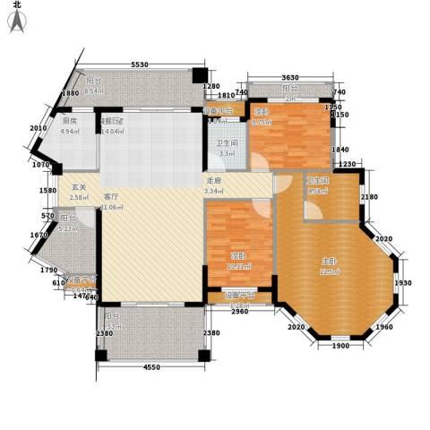 长沙玫瑰园3室0厅2卫1厨138.00㎡户型图