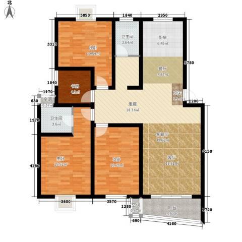 旭升花苑4室1厅2卫0厨157.00㎡户型图
