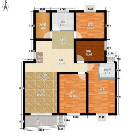 旭升花苑4室1厅2卫1厨139.00㎡户型图