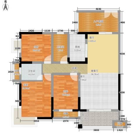 西点公园里3室1厅2卫1厨151.00㎡户型图