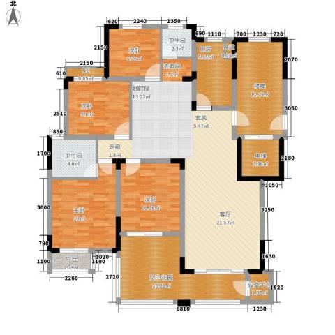 天鸿天府4室0厅2卫1厨190.00㎡户型图