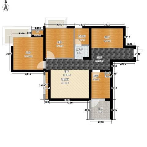 玲珑南域2室0厅1卫1厨83.00㎡户型图