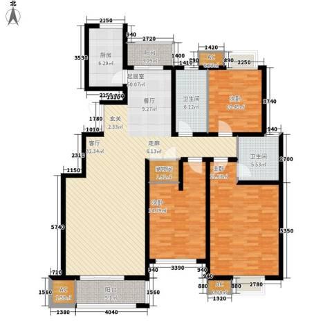 福邸铭门3室0厅2卫1厨145.00㎡户型图