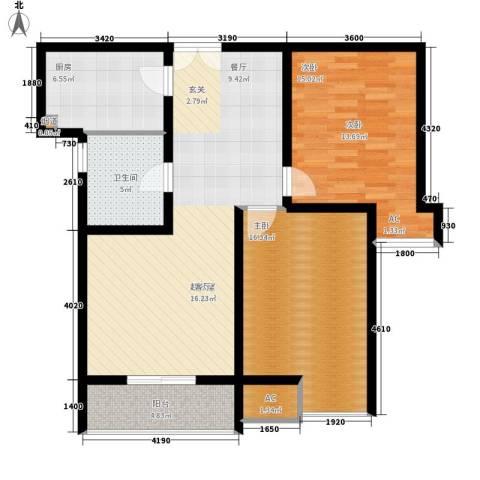 福邸铭门2室0厅1卫1厨89.00㎡户型图