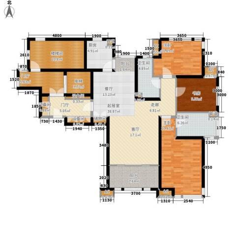 远见3室0厅2卫1厨136.00㎡户型图