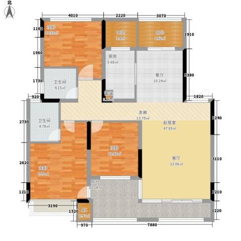 雅致名园3室0厅2卫1厨139.00㎡户型图