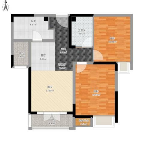 碧桂园滨海城2室1厅1卫1厨114.00㎡户型图