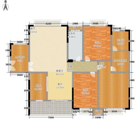 西点公园里3室1厅2卫1厨295.00㎡户型图