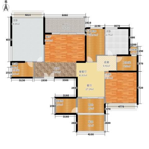 西点公园里3室1厅2卫1厨257.00㎡户型图