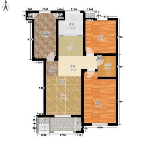 汇景园2室1厅1卫1厨100.00㎡户型图