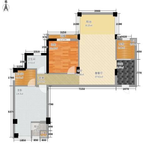 共和世家2室1厅2卫1厨92.00㎡户型图
