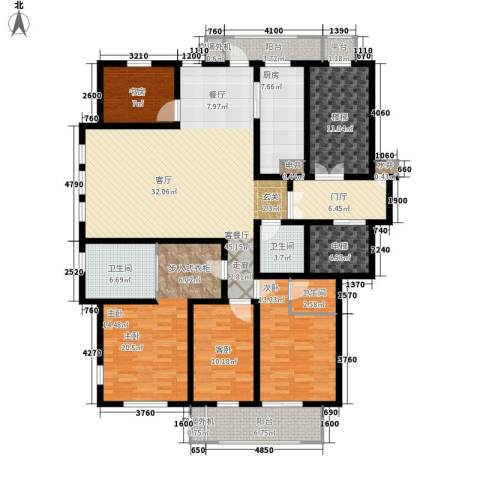 汇景园4室1厅3卫1厨176.00㎡户型图