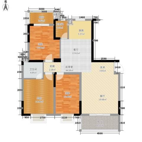 鑫天山城明珠3室0厅2卫0厨130.00㎡户型图