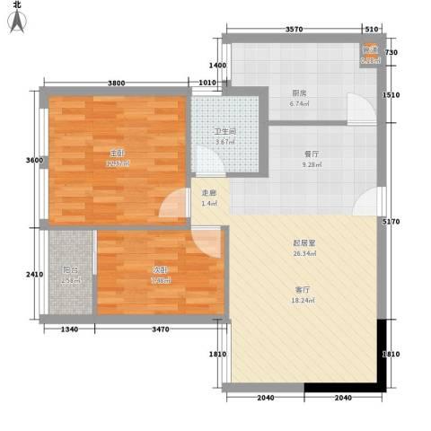 巧克力空间2室0厅1卫1厨89.00㎡户型图