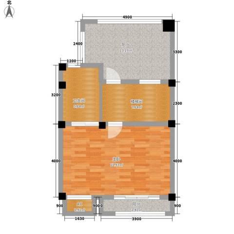 山水英伦庄园1室0厅1卫0厨171.00㎡户型图