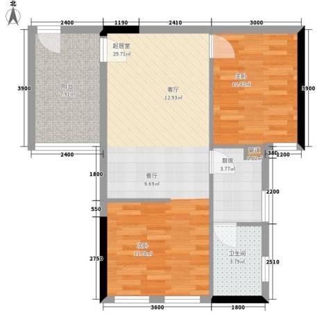 巧克力空间1室0厅1卫1厨78.00㎡户型图