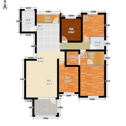 共和世家4室1厅2卫1厨150.00㎡户型图