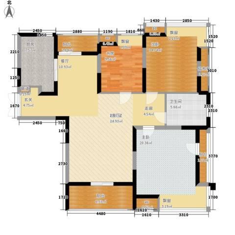 新养蚕里新村3室0厅1卫1厨130.00㎡户型图