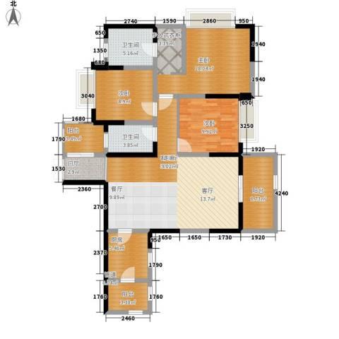 南钻威尼斯3室1厅2卫1厨130.00㎡户型图