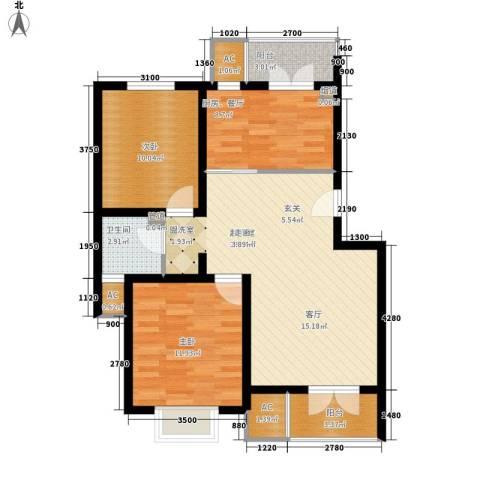 米兰新干线2室0厅1卫0厨82.00㎡户型图