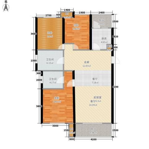 喜蜜湾3室0厅2卫1厨138.00㎡户型图