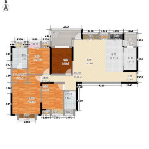 阳明山花园4室0厅2卫1厨125.83㎡户型图