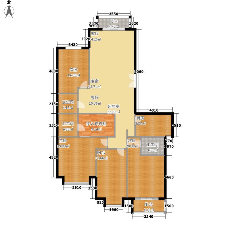 丽都壹号181.18㎡C01户型4室2厅3卫1厨户型4室2厅3卫