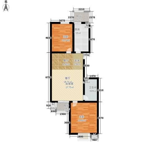 富润家园2室0厅1卫1厨82.00㎡户型图