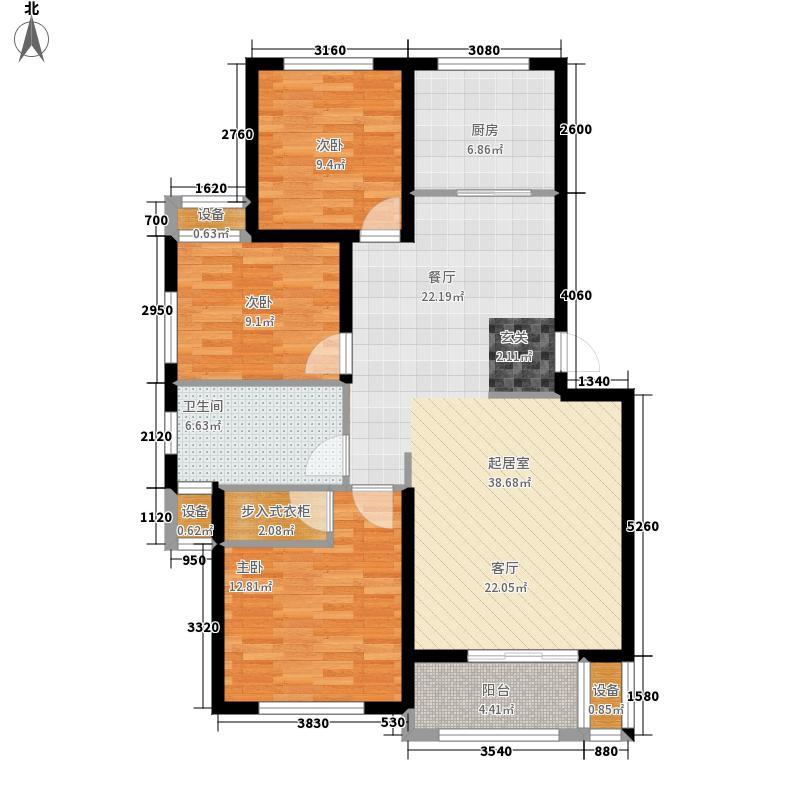 大丰水岸鑫城105.68㎡二期4#楼标面积10568m户型