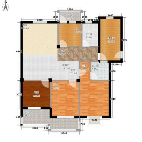 大丰水岸鑫城3室1厅2卫1厨118.00㎡户型图