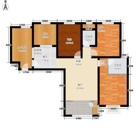 清渭公馆3室0厅2卫1厨135.00㎡户型图