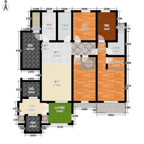 汇景园4室1厅2卫1厨169.00㎡户型图