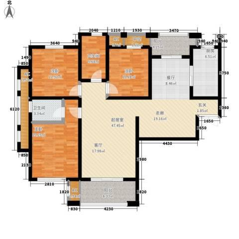 万科金色里程3室0厅2卫1厨139.00㎡户型图