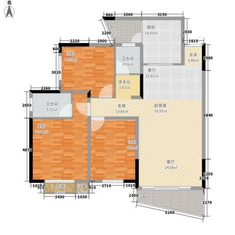 玛依拉山庄3室0厅2卫1厨158.00㎡户型图
