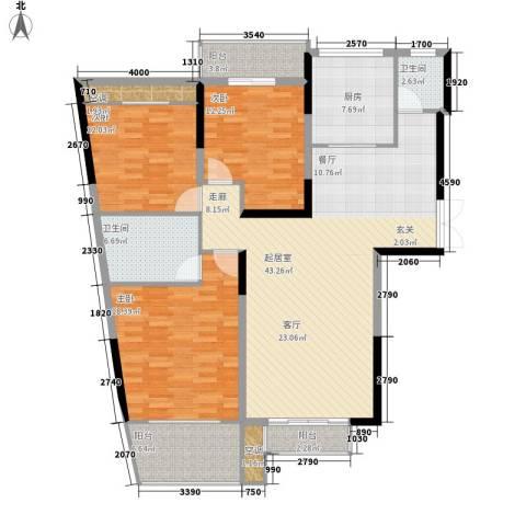 玛依拉山庄3室0厅2卫1厨133.00㎡户型图