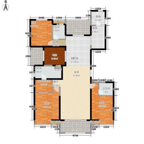万科金域曲江4室0厅3卫2厨187.00㎡户型图