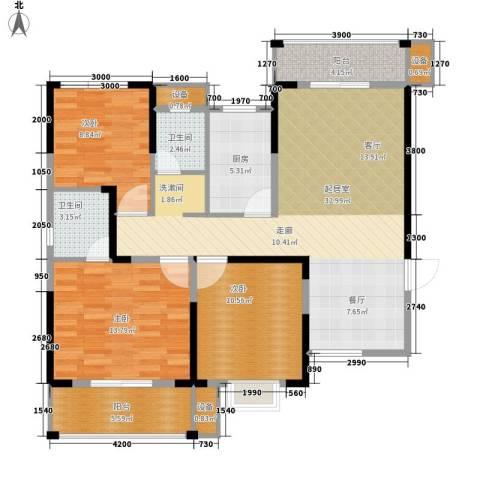 长城南雅名居3室0厅2卫1厨119.00㎡户型图