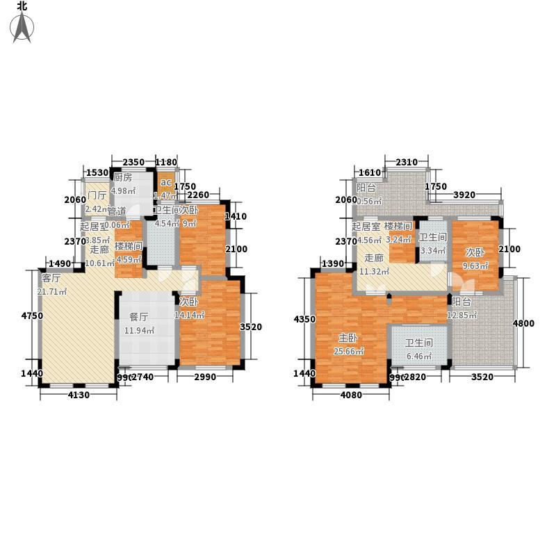 颐和府邸197.00㎡洋房H7户型4室2厅