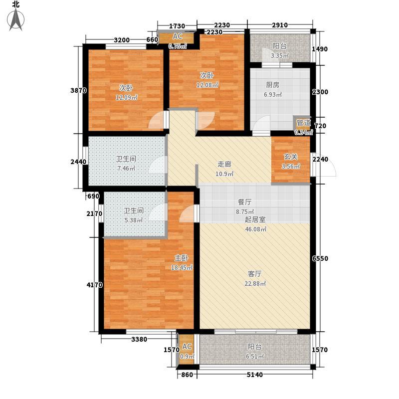 喜蜜湾136.95㎡高层14-33层B1户型
