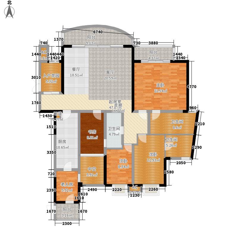 嘉年华国际社区190.00㎡一期一号楼标准层B户型