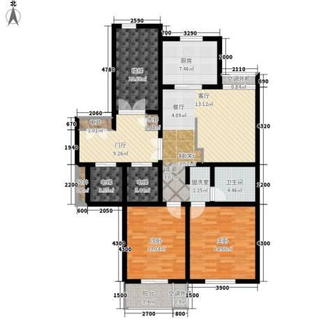 汇景园2室1厅1卫1厨148.00㎡户型图