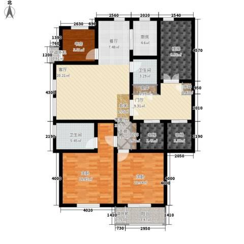 汇景园3室1厅2卫1厨131.00㎡户型图