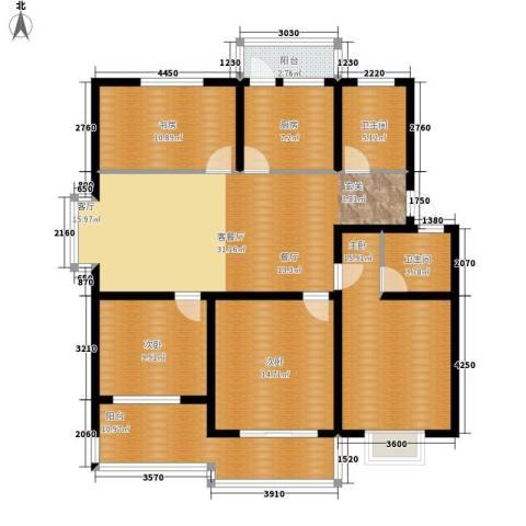 大丰水岸鑫城4室1厅2卫1厨130.00㎡户型图