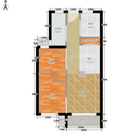 青年公寓2室1厅1卫1厨118.00㎡户型图