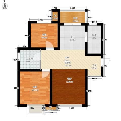 喜蜜湾2室0厅1卫1厨92.00㎡户型图