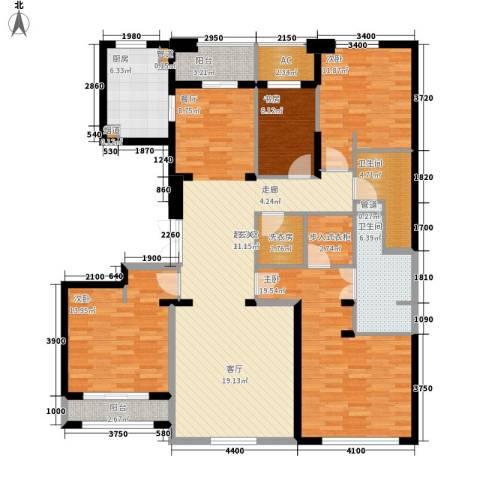 白沙社区4室0厅2卫1厨181.00㎡户型图